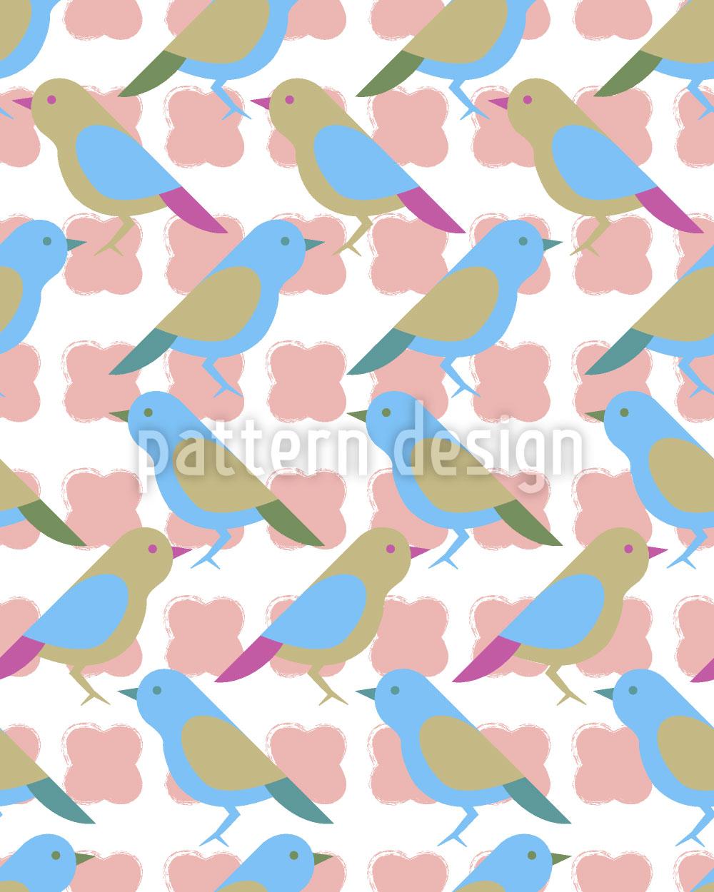 Designtapete Birdie Floral