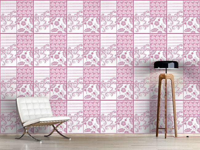 Designtapete Malkunst In Rosa