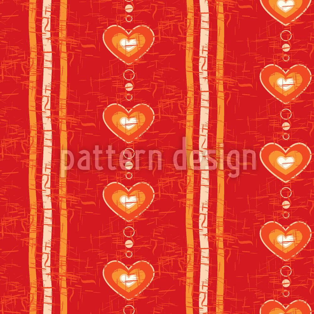 Designtapete Warm Ums Herz