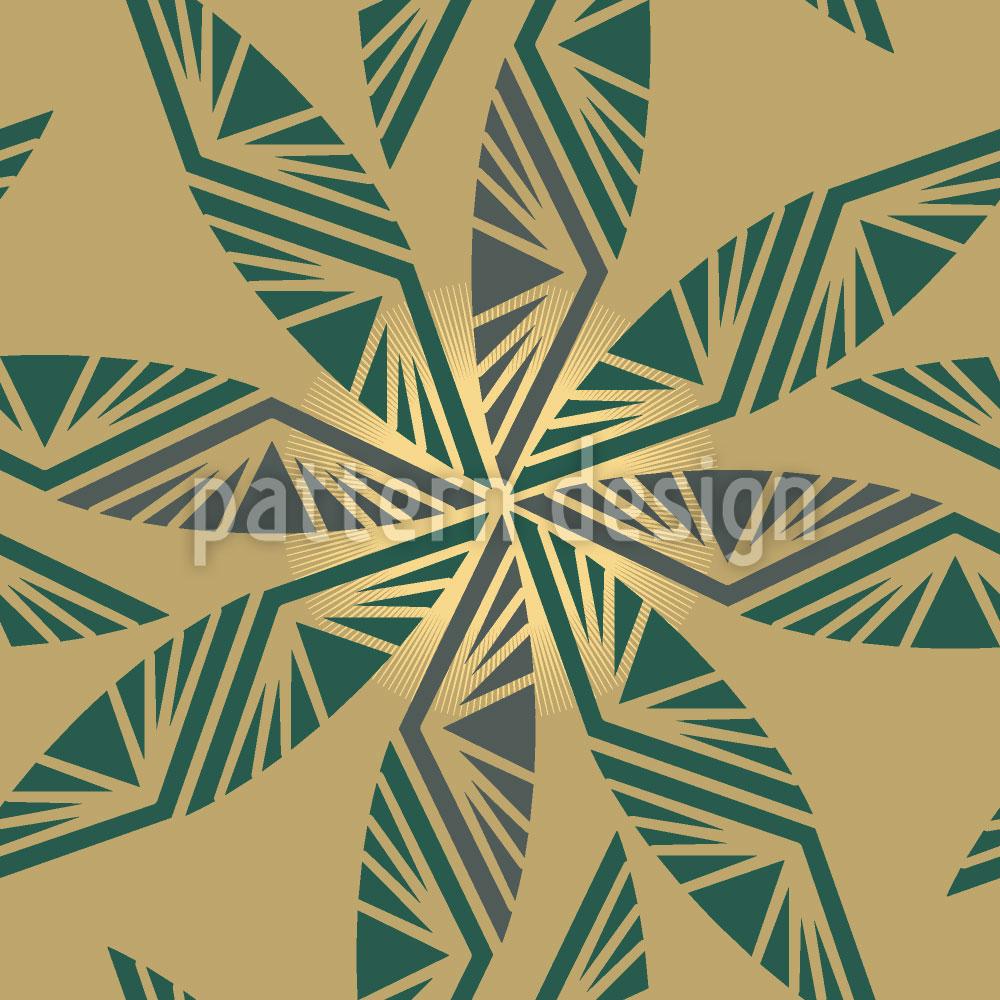 Designtapete Strahlende Blätter