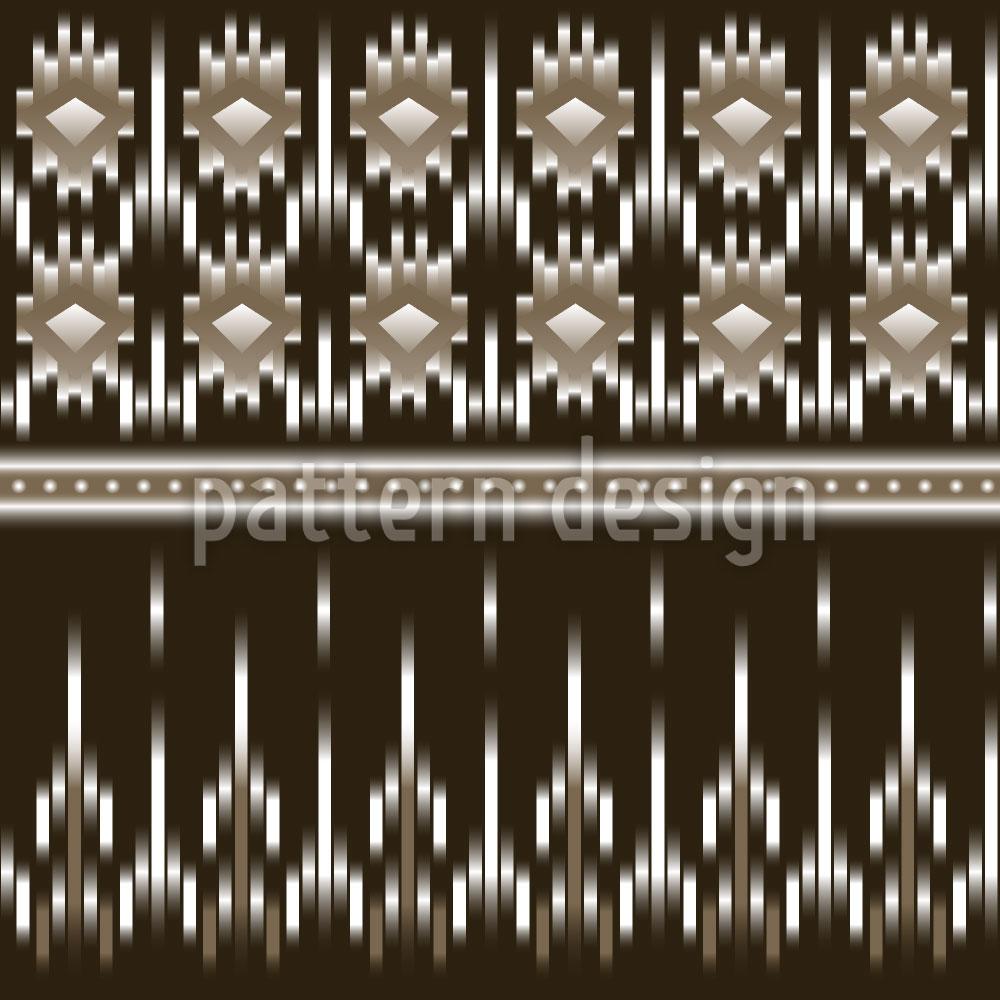Designtapete Maya Ikat