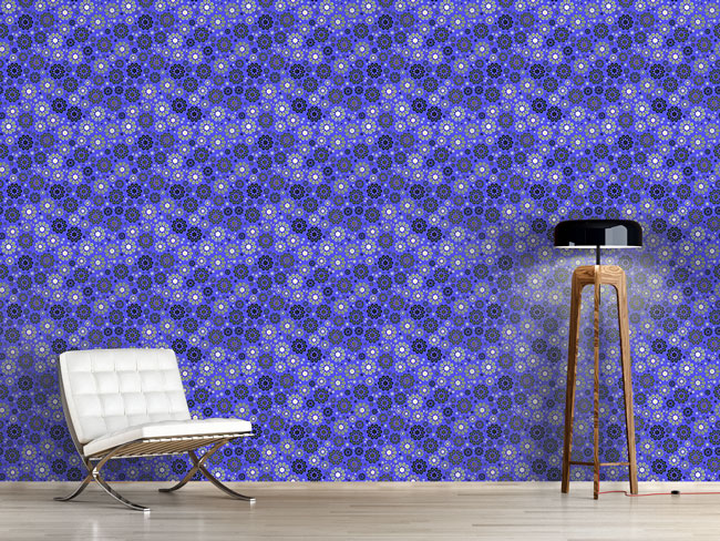 Designtapete Blüten Im Nachtblau