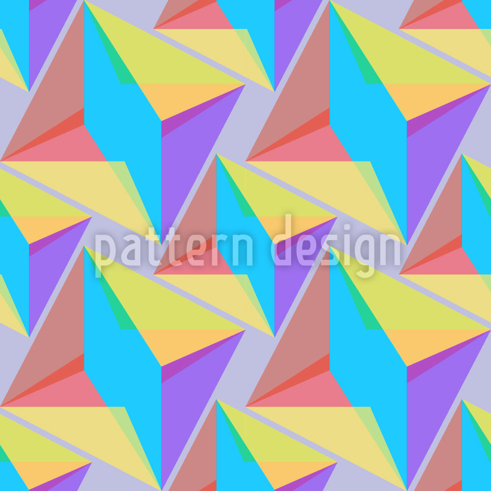 Designtapete Harlekin Geometrie