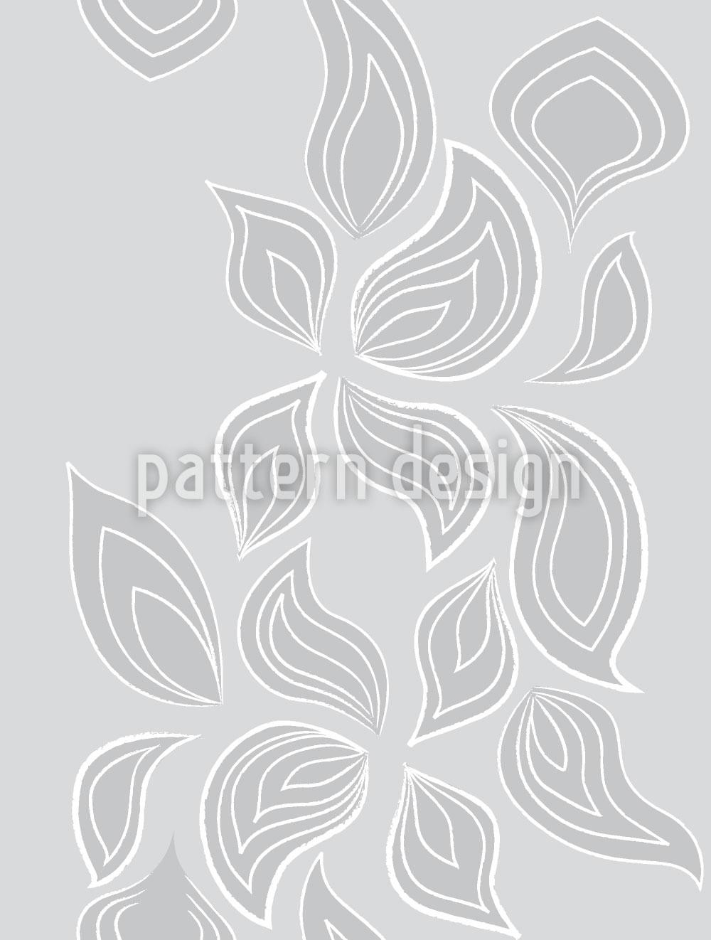 Designtapete Blätter Im Schnee