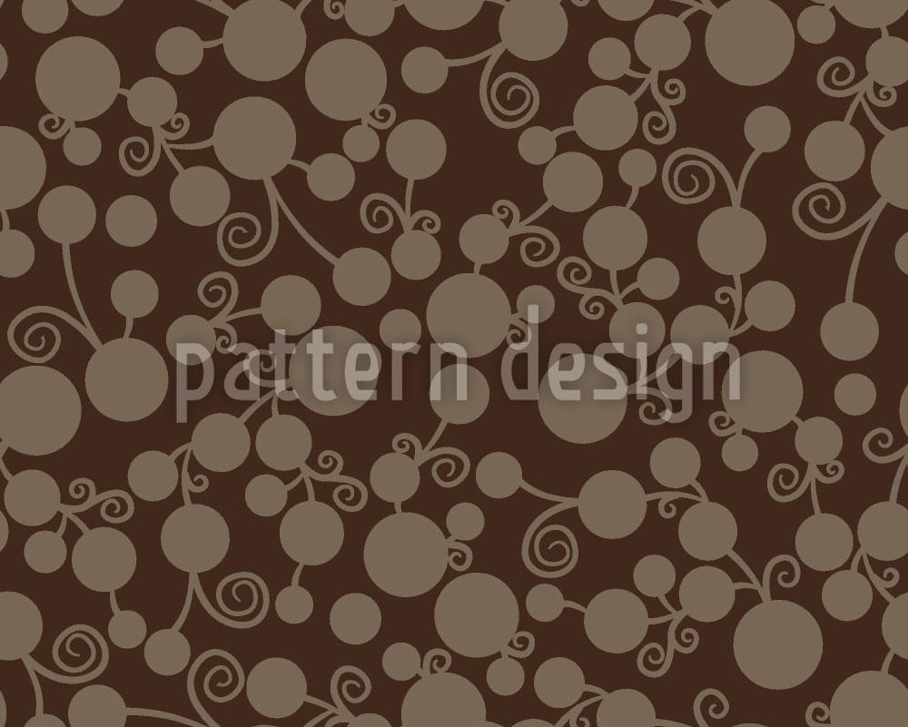 Designtapete Braune Früchtchen