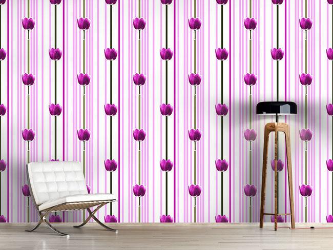 Designtapete Tulpe Pink