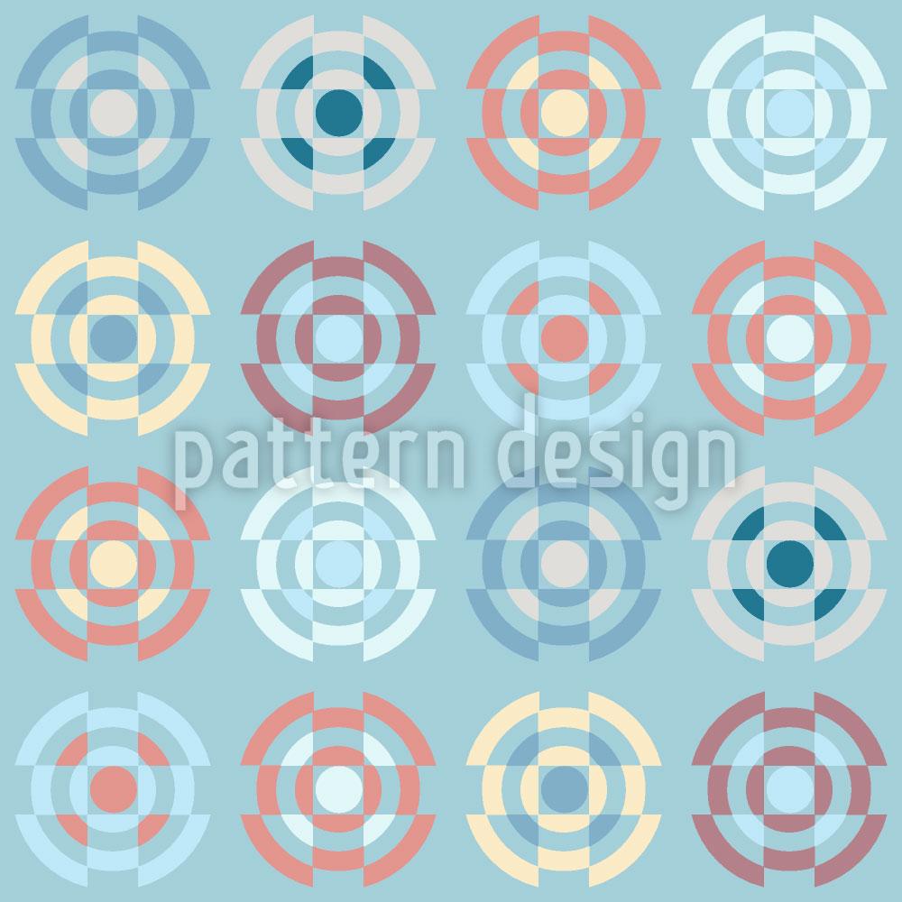 Designtapete Kreisel In Pastell