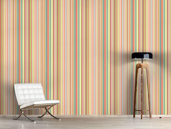 Designtapete Multicolor Streifen