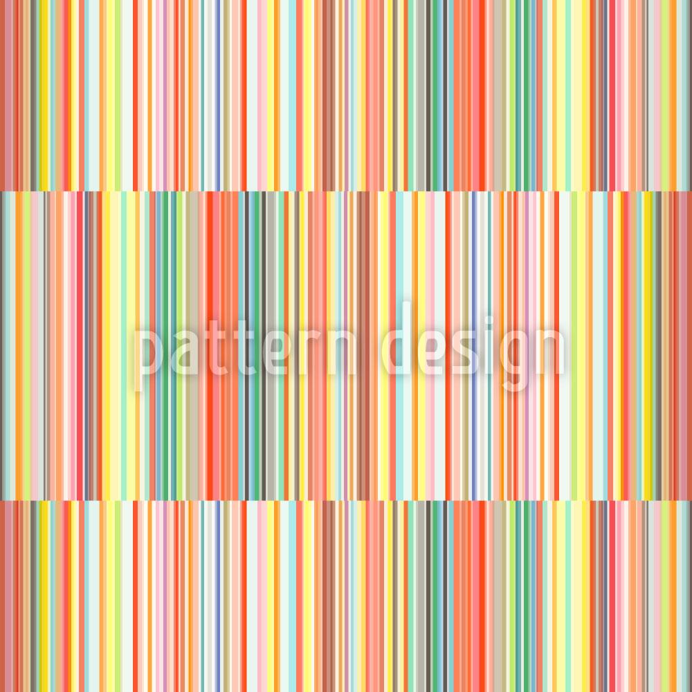 Designtapete Multicolor Streifen Versetzt