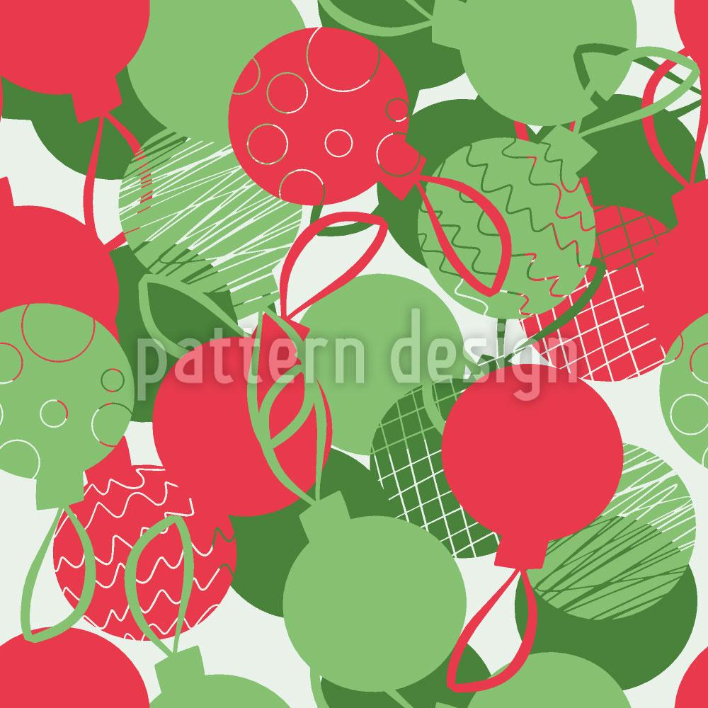 Designtapete Weihnachtskugeln