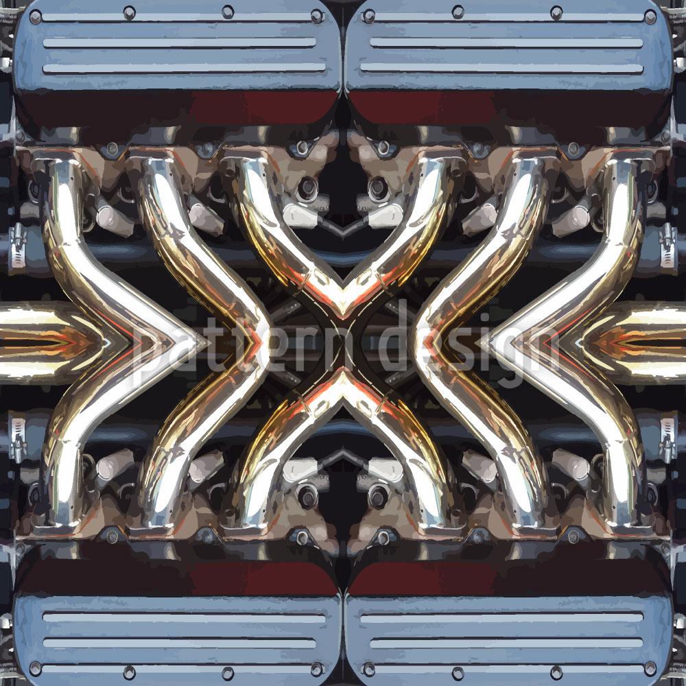 Designtapete Motor Für Mann