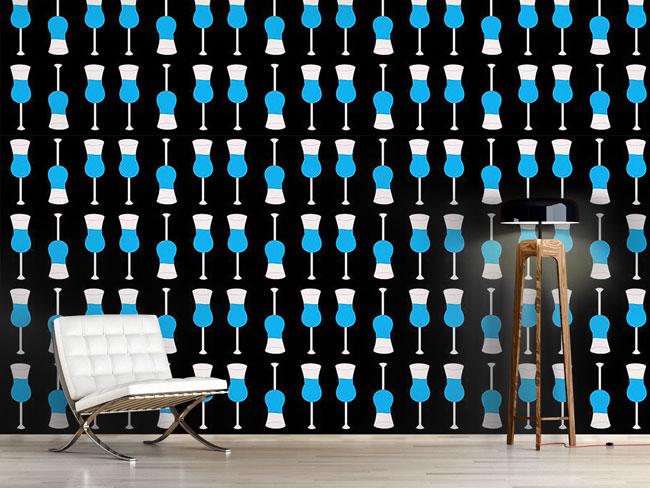 Designtapete Cool Blue Curacao