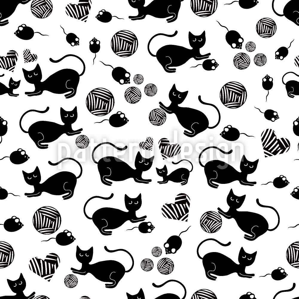 Designtapete Die Schwarze Katze Mausi