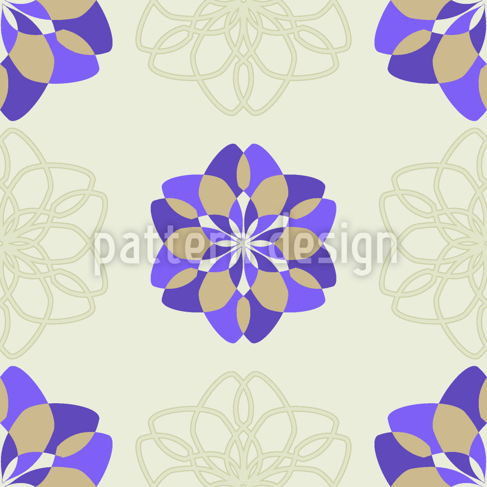 Designtapete Rosa Floralis