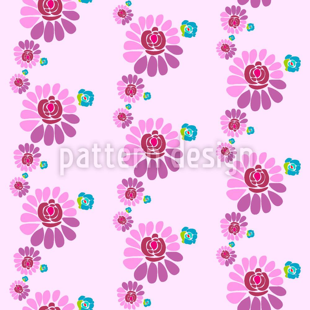 Designtapete Herzige Blumen