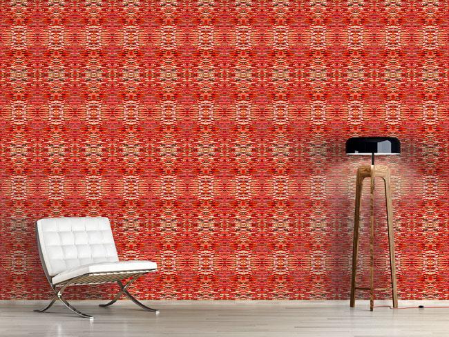 Designtapete Flimmern Im Roten Salon