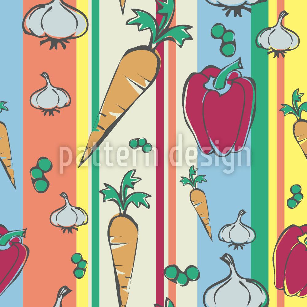 Designtapete Buntes Gemüse