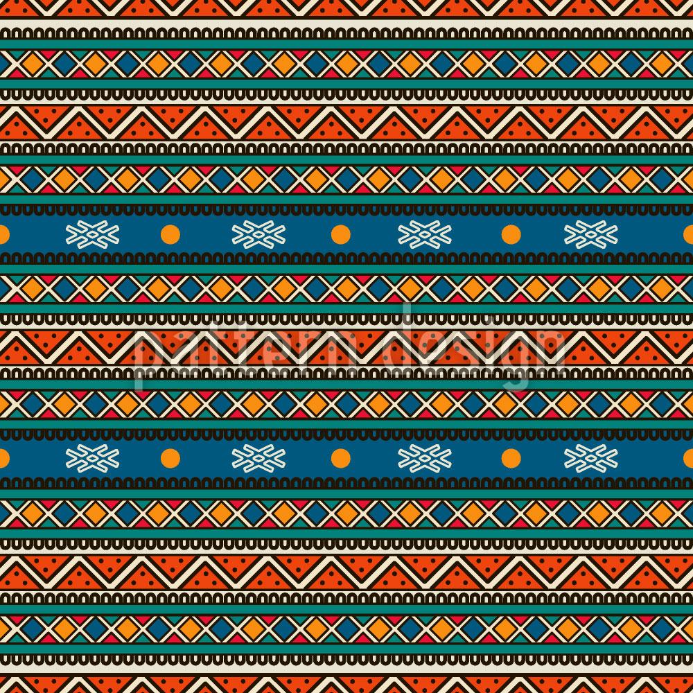 Designtapete Tribal Streifen