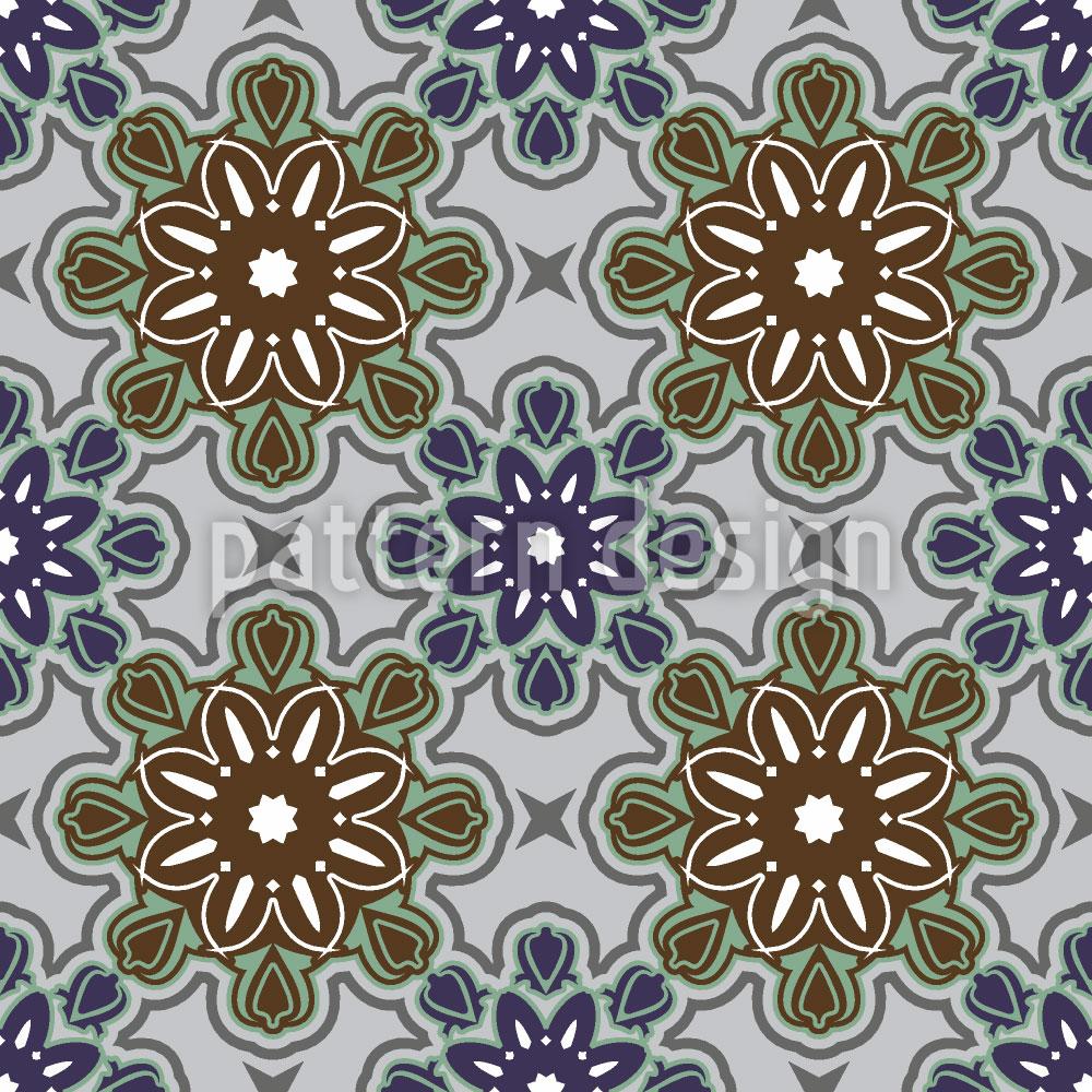 Designtapete Burgblumen