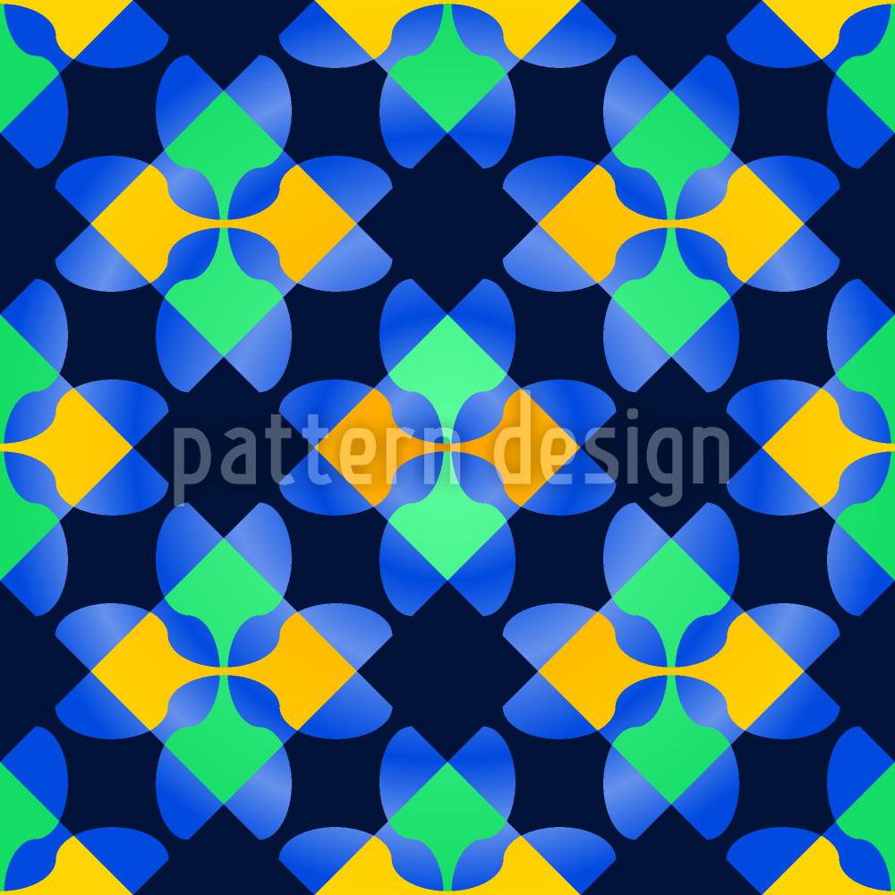 Designtapete Karo Mosaik
