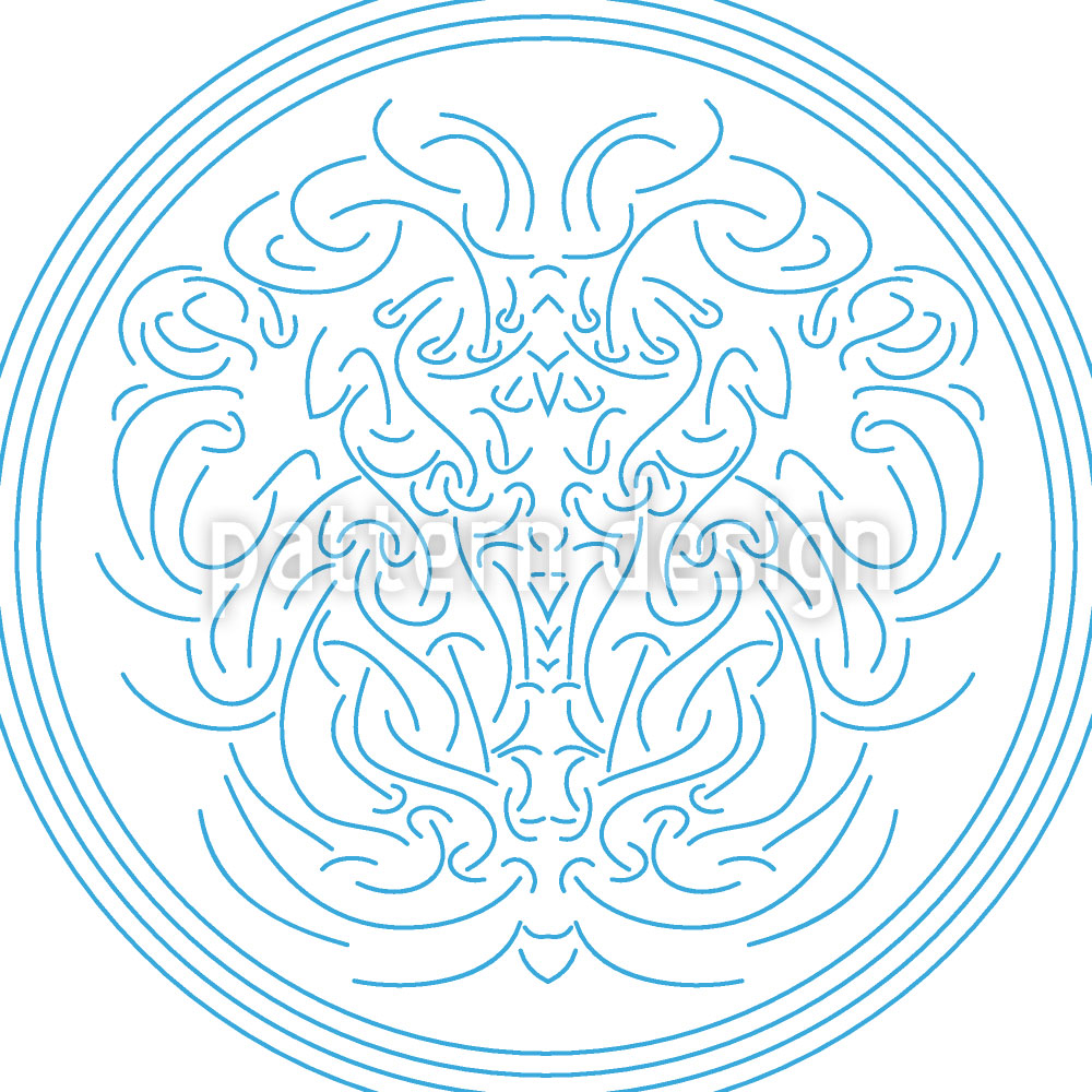 Designtapete Neptun Embleme