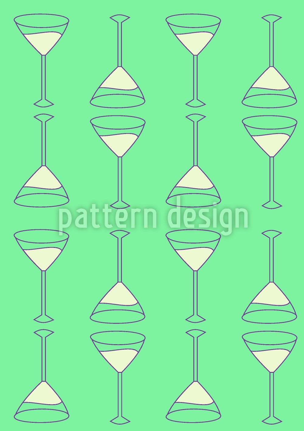 Designtapete Martini Grün