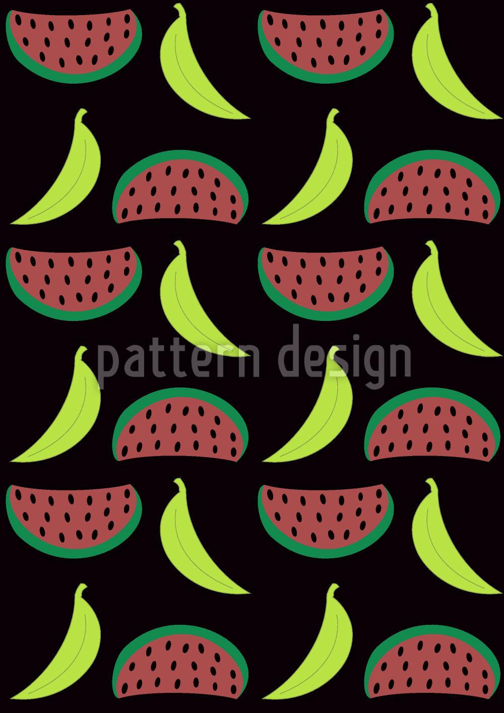 Designtapete Bella Banana Trifft Manni Melone