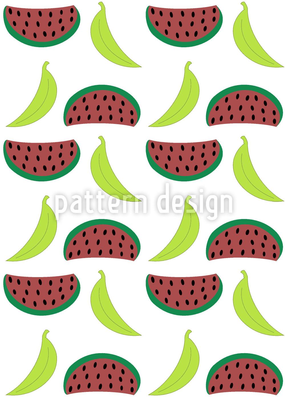 Designtapete Bella Banana Trifft Morgen Manni Melone