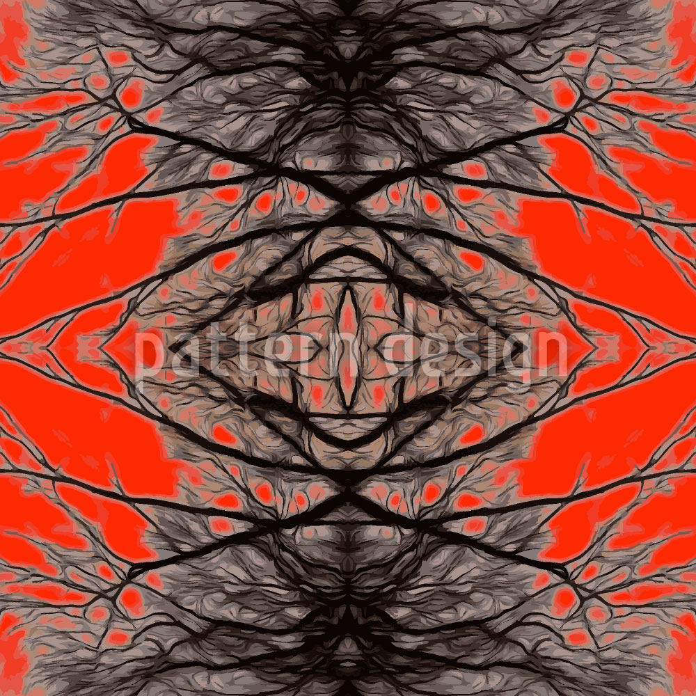 Designtapete Network Lava