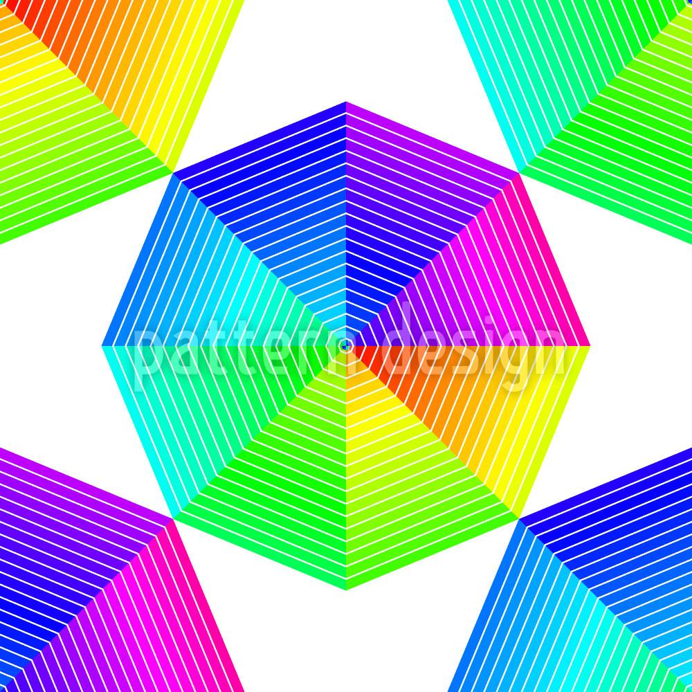 Designtapete Farbspektren Des Oktagons