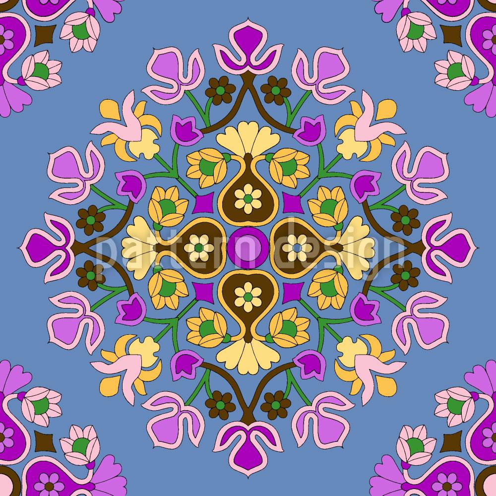 Designtapete Orientalische Blüte