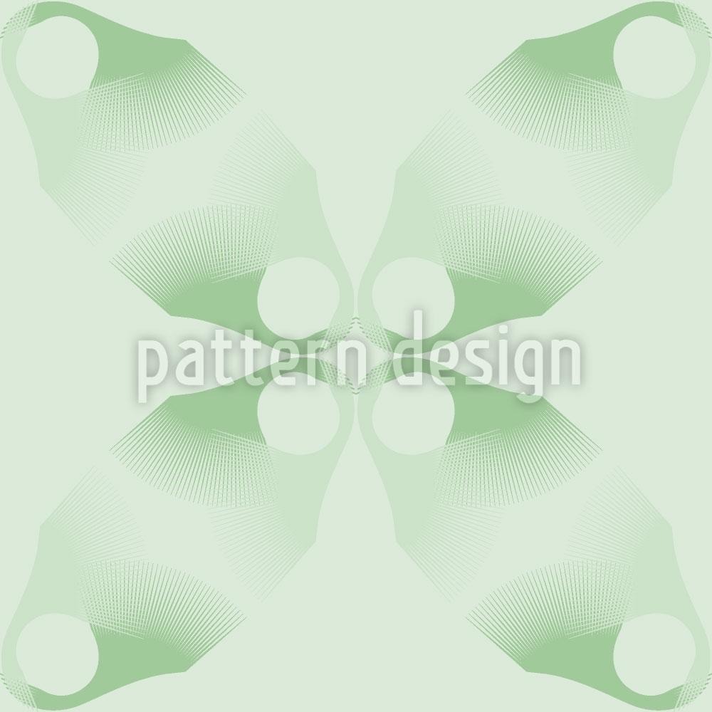Designtapete Blumen Verlaufen Sich Im Grün