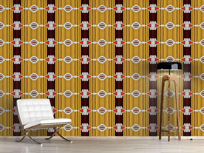 Designtapete Vorhang Auf Für Barock