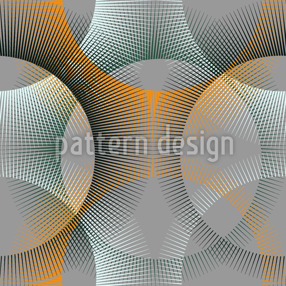Designtapete Transparenz Der Strahlenkreise