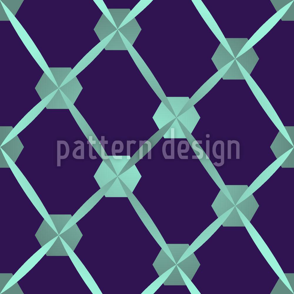 Designtapete Hexagon Netzwerk