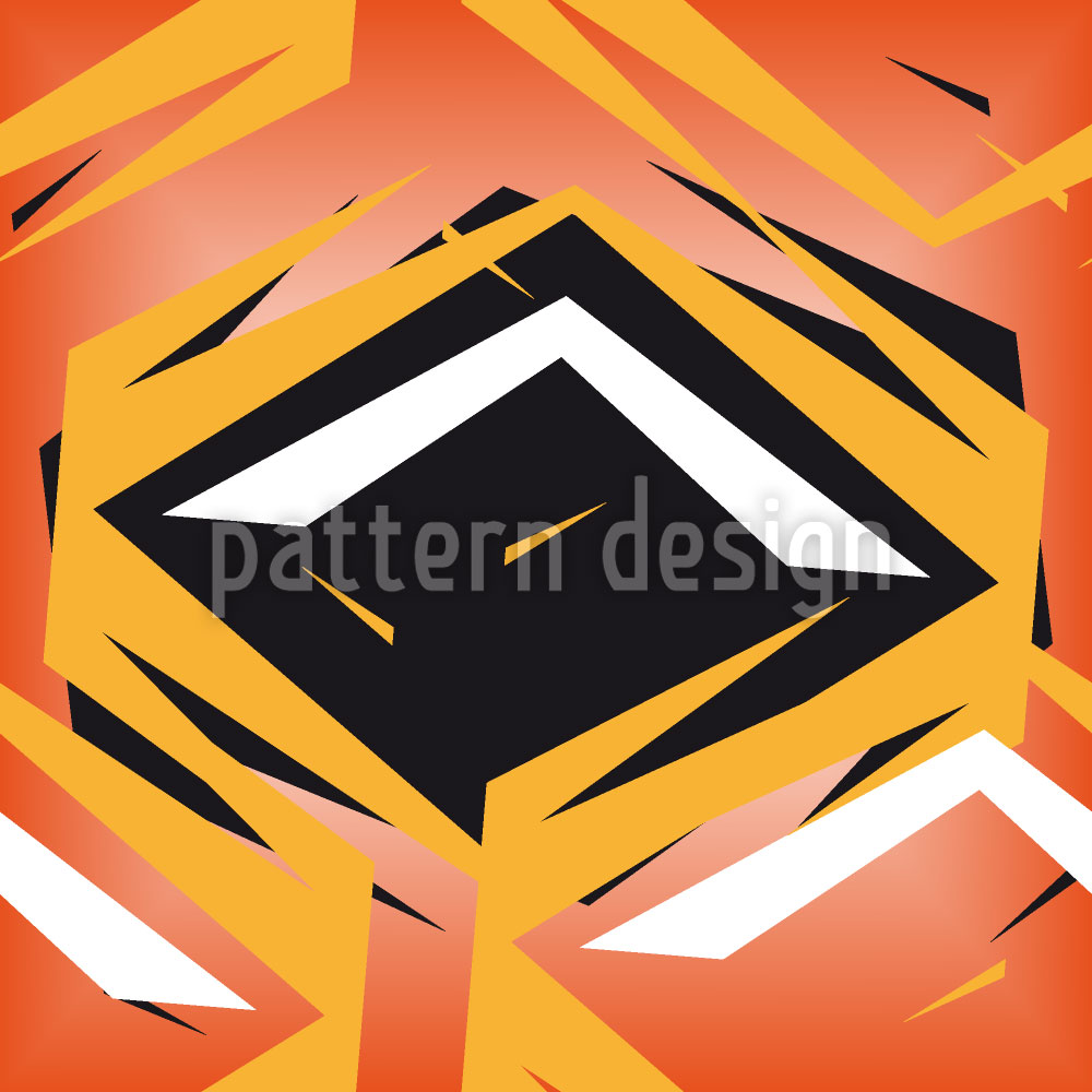 Designtapete Rhombus Im Gefecht