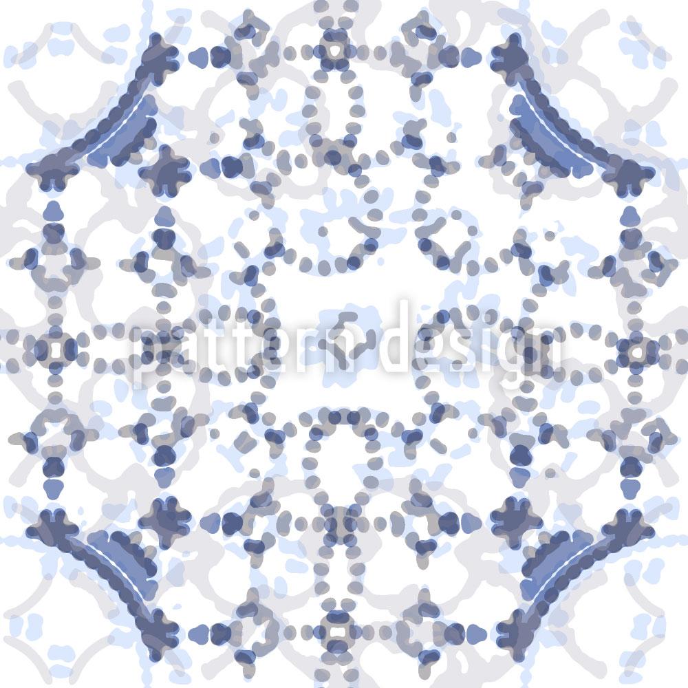 Designtapete Kreise So Blau