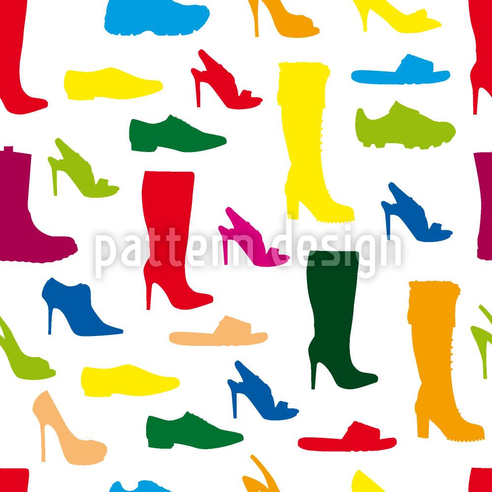Designtapete Schuhe