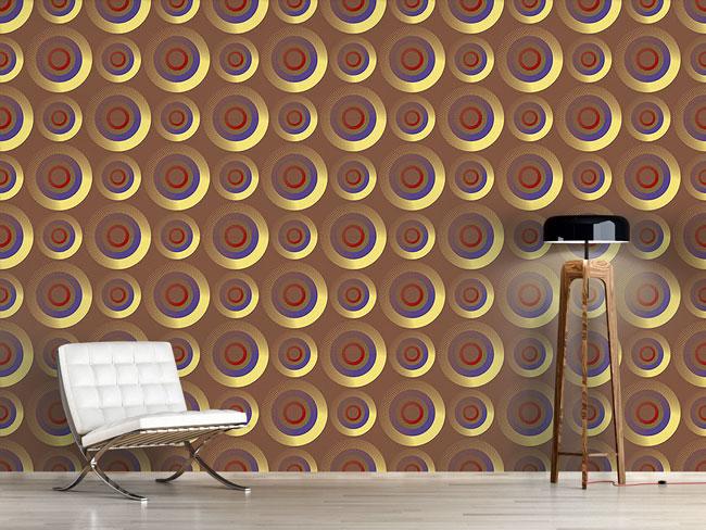 Designtapete Goldene Zielkreise