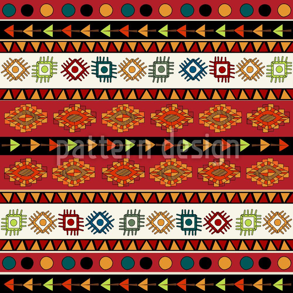 Designtapete Indianerpfade