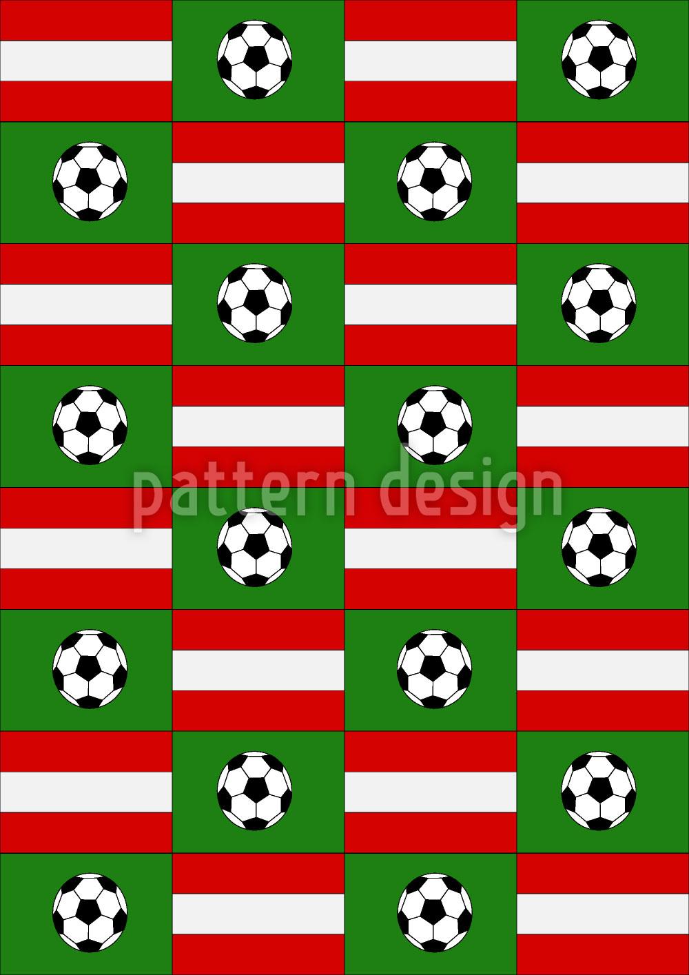 Designtapete Fussball Made In Austria