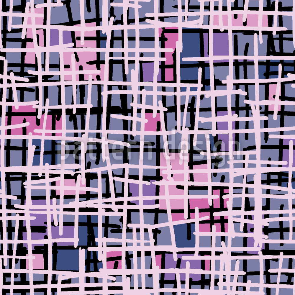 Designtapete Pink Pop Art Patchwork