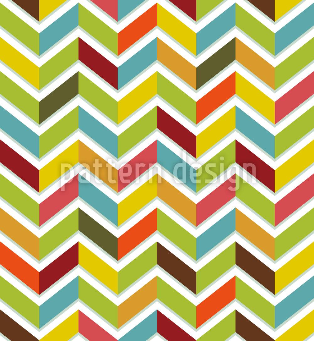 Designtapete Fischgrat Color