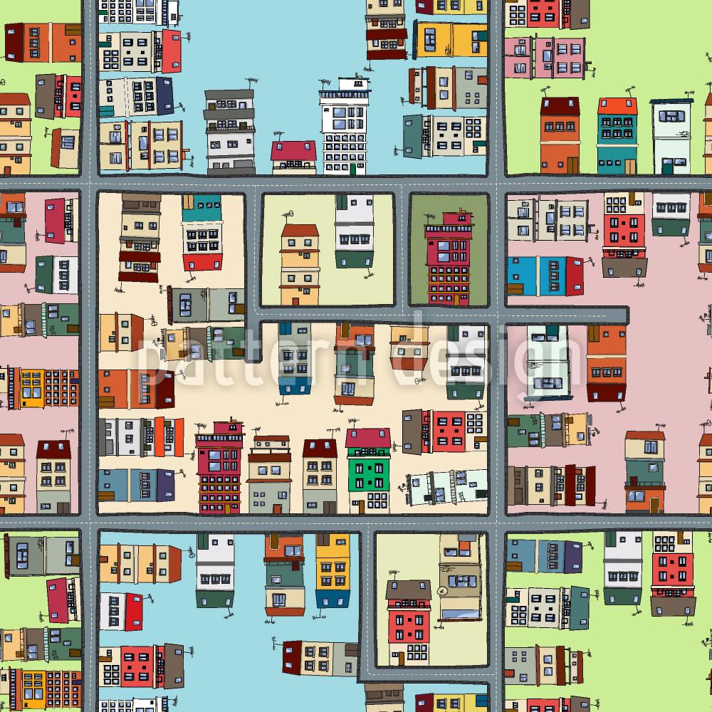 Designtapete Stadtplan