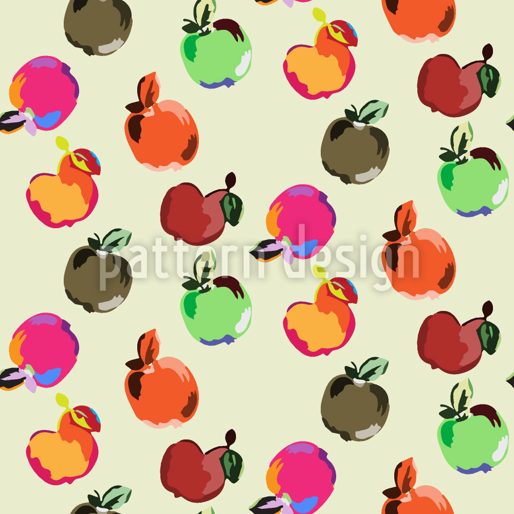 Designtapete Äpfel