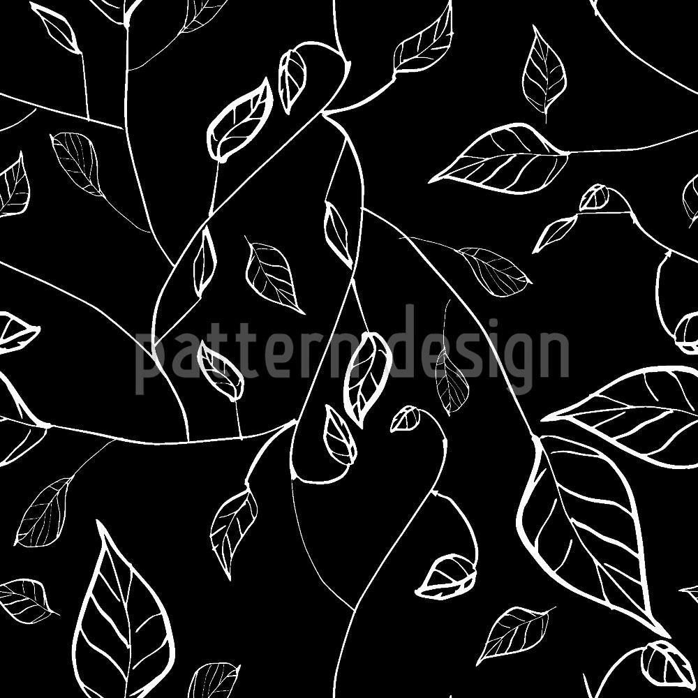 Designtapete Nachts Im Blätterwald