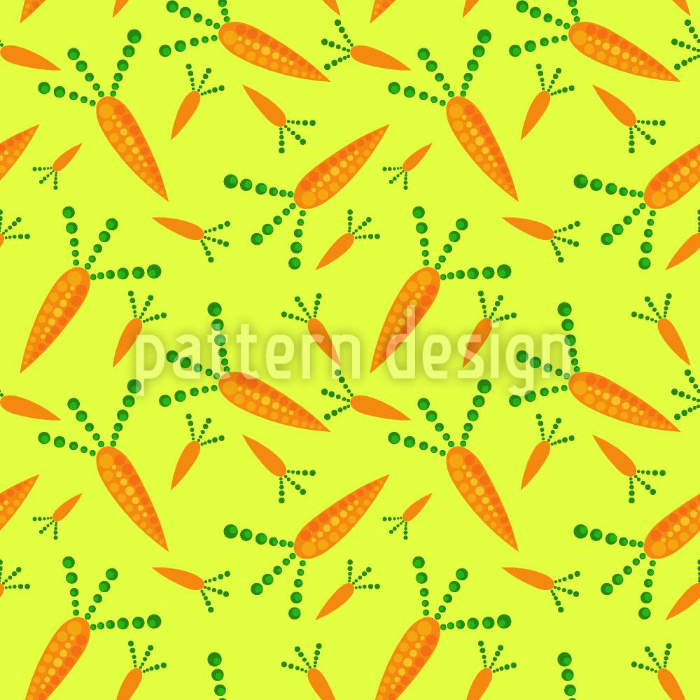 Designtapete Karotten Ernte