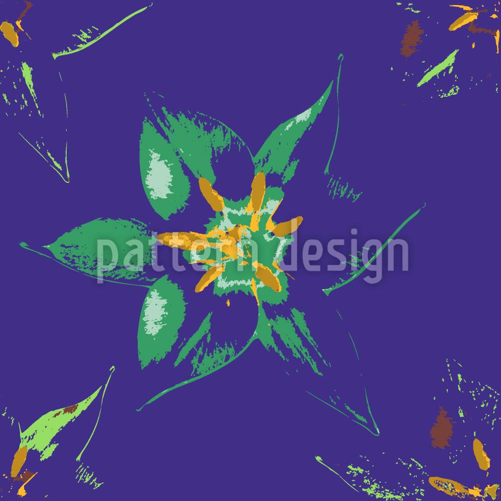 Designtapete Tropische Blüte