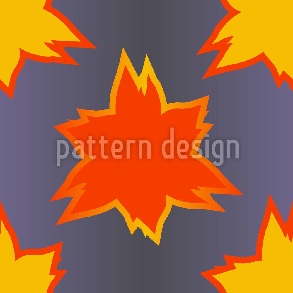 Designtapete Flammenblatt
