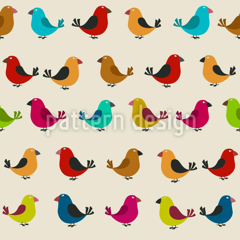 Designtapete Zwitschernde Vögel